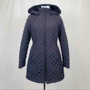 Laundry by Shelli Segal Quilted Hooded Coat M